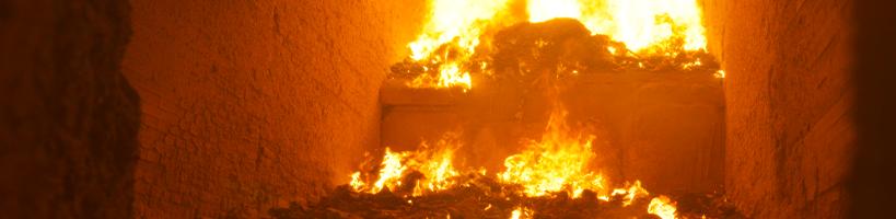 Four d'incinération de déchets sur le site de Sénerval